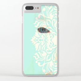 Albino Eyes #20 Clear iPhone Case
