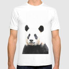Panda Watercolor Panda Bear Portrait T-shirt