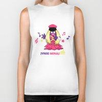 minaj Biker Tanks featuring Jynxi Minaj  by The Art of Leena Cruz :)