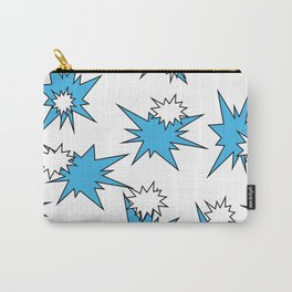 Stars (Blue & White on White) Carry-All Pouch