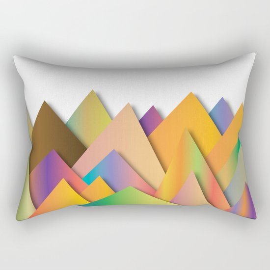 Mountains of Colorcombinations Rectangular Pillow