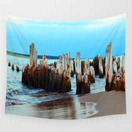 Beach Relics of a Time Gone By Wall Tapestry