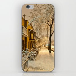 Montreal under the snow iPhone Skin