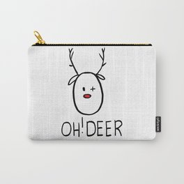 Oh! Deer with red nose and wink Carry-All Pouch
