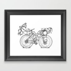 Bikepacking Framed Art Print