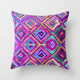 A trip to India in Cerulean Blue and Violet Throw Pillow
