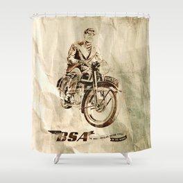BSA - Vintage Poster Shower Curtain