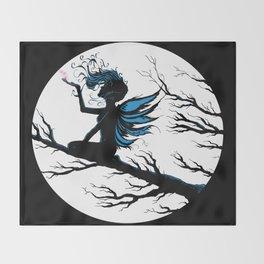 Fairy Silhouette Throw Blanket