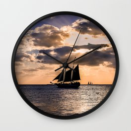 Sunset in Key West, Florida Wall Clock