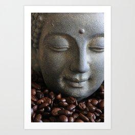coffee buddha Art Print