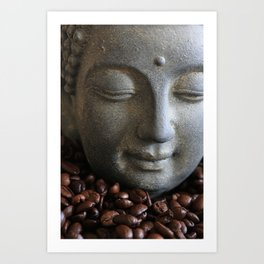 coffee buddha Art Print