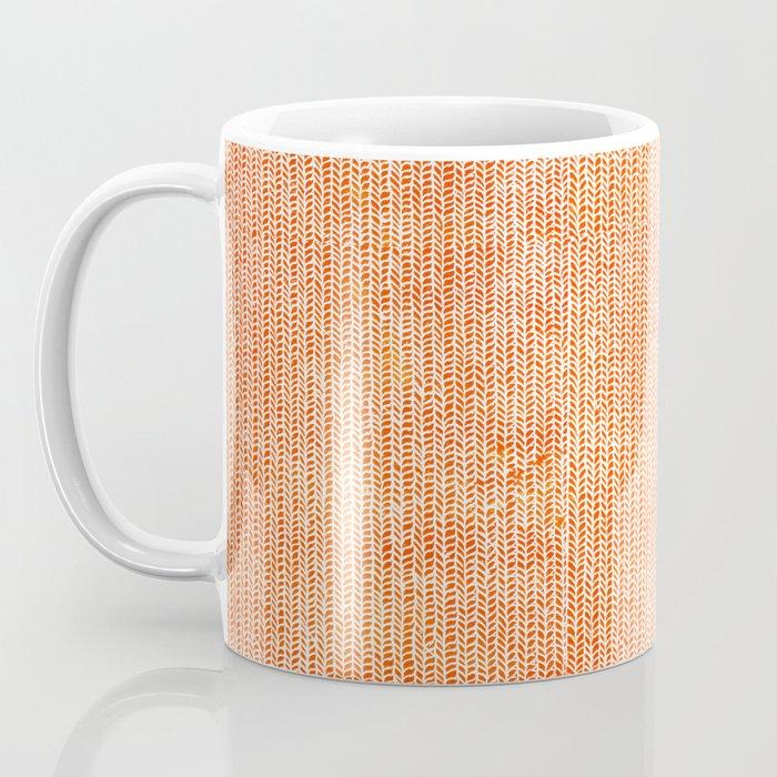 Stockinette Orange Coffee Mug