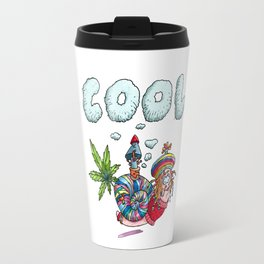 Rasta Snail,rastafari,dreadlocks-Cannabis Leafs Sunset -Reggae Music Travel Mug