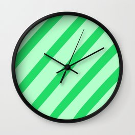 Leaf Stripes Wall Clock