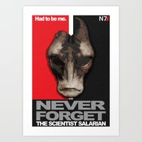 NEVER FORGET - Mordin Solus- Mass Effect Art Print