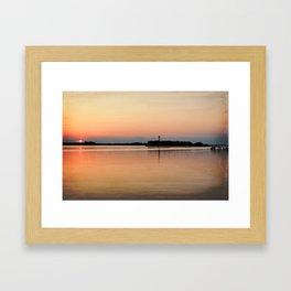 Lower Cape Fear River Sunset Burnished Framed Art Print