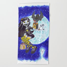 Trick or Treating Beach Towel