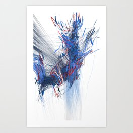 Unwelcome Gaze – Facebook 16 Art Print