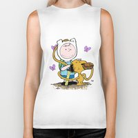 snoopy Biker Tanks featuring Peanuts Time with Charlie and Snoopy by Ian Westart