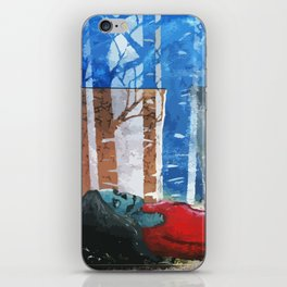 Skull Among Birches iPhone Skin