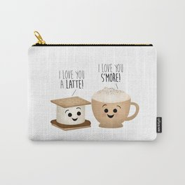 I Love You A Latte! I Love You S'more! Carry-All Pouch