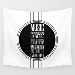 Lab No. 4 - Plato philosopher Inspirational Music Quotes  poster Wall Tapestry