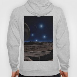 Stars planet Surface of planets Mountains 3D Graphics Planets mountain Hoody