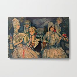 Marion Davis Monumental Portrait of the Gilded Age landscape painting by Federico Beltran Masses Metal Print