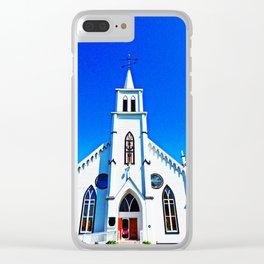 White Church Clear iPhone Case