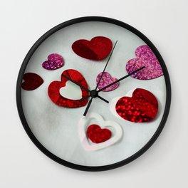 Confetti Heart Photography Print Wall Clock