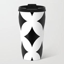 60s Contrast Pattern 2 Travel Mug