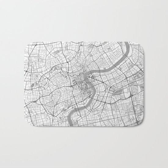 Shanghai Map Line Bath Mat
