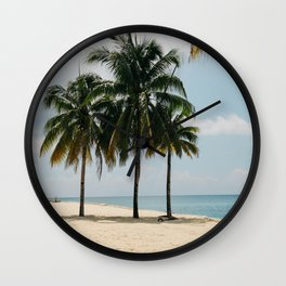 Beach Side Happy Place Wall Clock