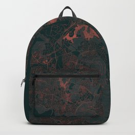 Canberra Map Red Backpack