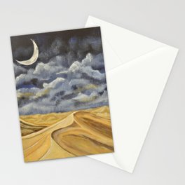 Death Valley Sand Dunes at night. Stationery Cards