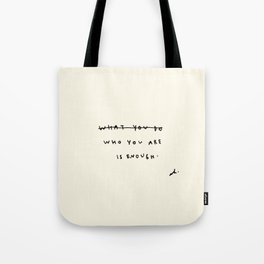 Who You Are Is Enough Tote Bag
