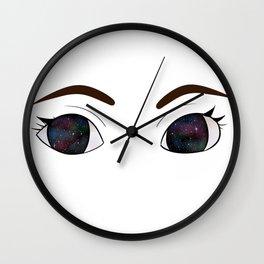 She Had Galaxies In Her Eyes Wall Clock