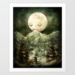 The Peckish Moon Art Print