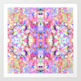 Confetti Colours Art Print