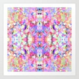 Confetti Colours Art Print