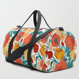 Vintage flower garden Duffle Bag