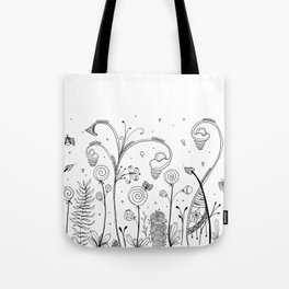 Secret Garden Illustration Tote Bag