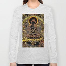 Manjushree Black Gold Thangka Long Sleeve T-shirt