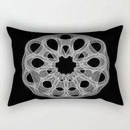 GEOMETRIC NATURE: DAHLIA b/w Rectangular Pillow