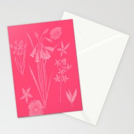 Wildflowers in watermelon Stationery Cards