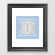 Everything belongs to geometry #7 Framed Art Print