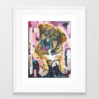 emily rickard Framed Art Prints featuring Emily by Maritza Hernandez