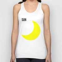sun and moon Tank Tops featuring SUN by try2benice