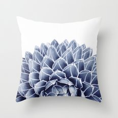 Succulent splendour - chambray Throw Pillow