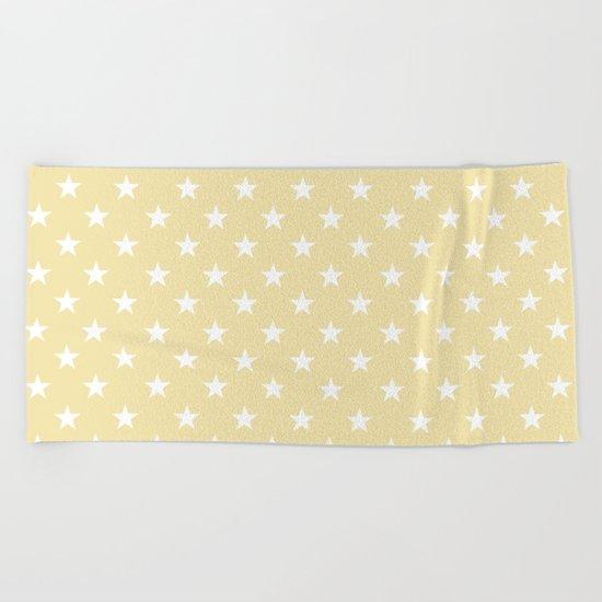 Stars (White/Vanilla) Beach Towel
